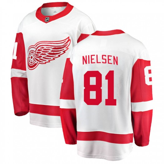 Frans Nielsen Detroit Red Wings Men's Fanatics Branded White Breakaway Away Jersey