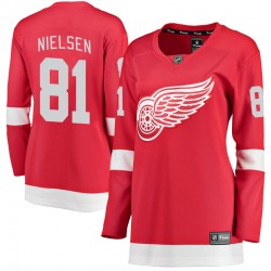 Frans Nielsen Detroit Red Wings Women's Fanatics Branded Red Breakaway Home Jersey