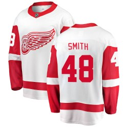 Givani Smith Detroit Red Wings Men's Fanatics Branded White Breakaway Away Jersey