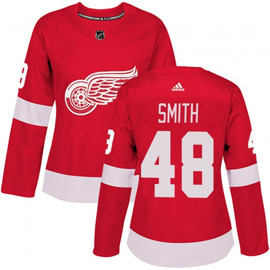 Givani Smith Detroit Red Wings Women's Adidas Authentic Red Home Jersey