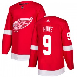 Gordie Howe Detroit Red Wings Men's Adidas Authentic Red Jersey