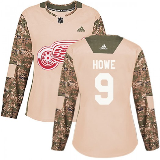 Gordie Howe Detroit Red Wings Women's Adidas Authentic Camo Veterans Day Practice Jersey