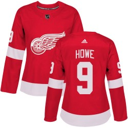 Gordie Howe Detroit Red Wings Women's Adidas Authentic Red Home Jersey