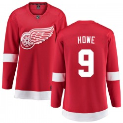 Gordie Howe Detroit Red Wings Women's Fanatics Branded Red Home Breakaway Jersey