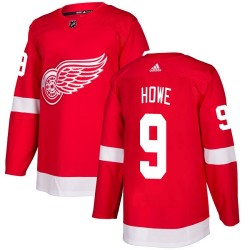 Gordie Howe Detroit Red Wings Youth Adidas Authentic Red Home Jersey
