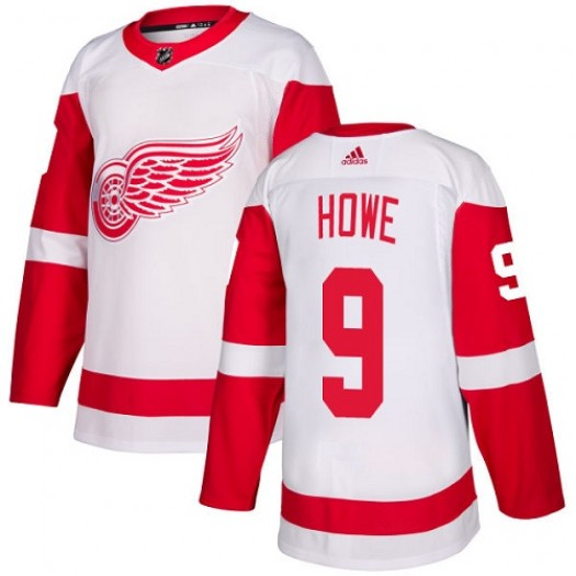 Gordie Howe Detroit Red Wings Youth Adidas Authentic White Away Jersey