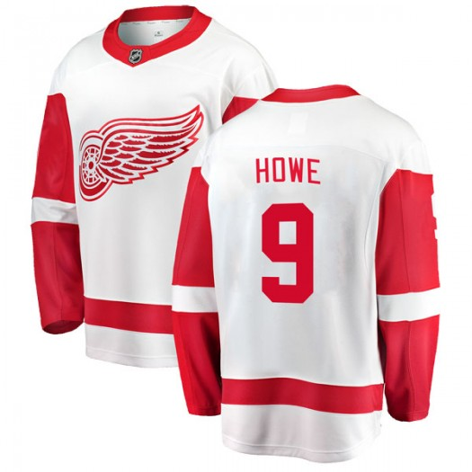 Gordie Howe Detroit Red Wings Youth Fanatics Branded White Breakaway Away Jersey