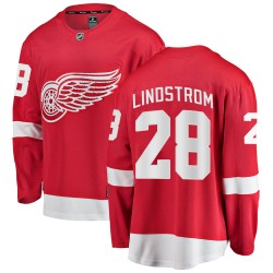 Gustav Lindstrom Detroit Red Wings Men's Fanatics Branded Red Breakaway Home Jersey