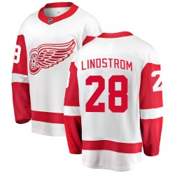 Gustav Lindstrom Detroit Red Wings Men's Fanatics Branded White Breakaway Away Jersey