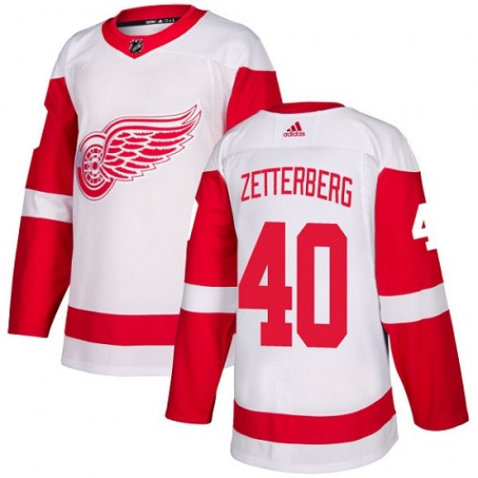 Henrik Zetterberg Detroit Red Wings Women's Adidas Authentic White Away Jersey