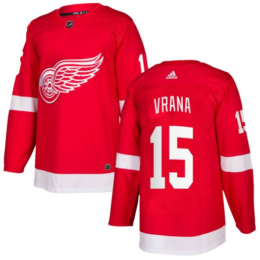 Jakub Vrana Detroit Red Wings Men's Adidas Authentic Red Home Jersey