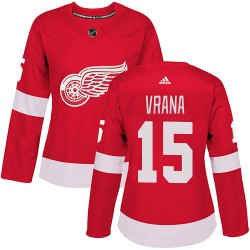 Jakub Vrana Detroit Red Wings Women's Adidas Authentic Red Home Jersey