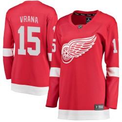 Jakub Vrana Detroit Red Wings Women's Fanatics Branded Red Breakaway Home Jersey