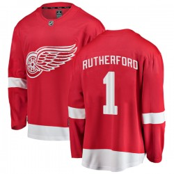 Jim Rutherford Detroit Red Wings Men's Fanatics Branded Red Breakaway Home Jersey