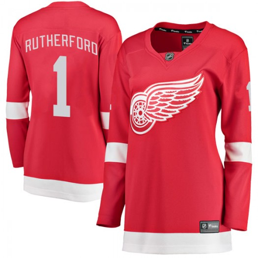 Jim Rutherford Detroit Red Wings Women's Fanatics Branded Red Breakaway Home Jersey