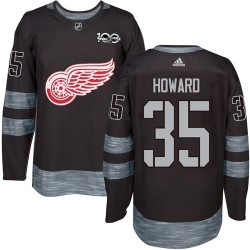 Jimmy Howard Detroit Red Wings Men's Adidas Authentic Black 1917-2017 100th Anniversary Jersey