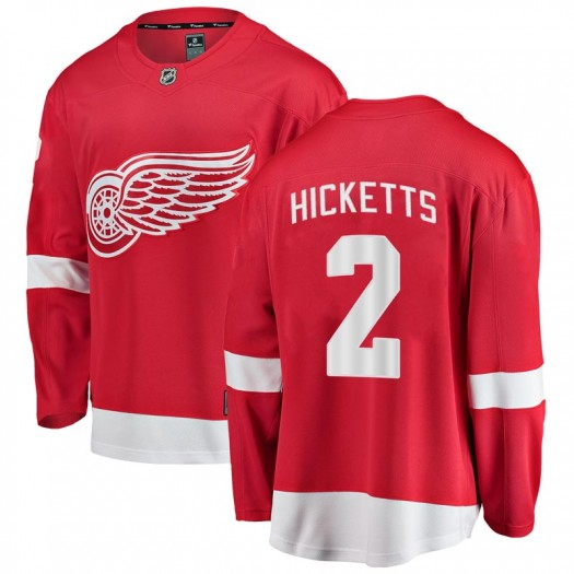 Joe Hicketts Detroit Red Wings Youth Fanatics Branded Red Breakaway Home Jersey