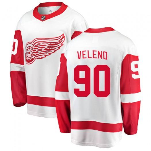 Joe Veleno Detroit Red Wings Youth Fanatics Branded White Breakaway Away Jersey
