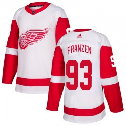 Johan Franzen Detroit Red Wings Men's Adidas Authentic White Jersey