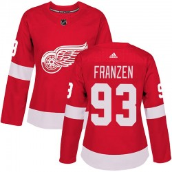 Johan Franzen Detroit Red Wings Women's Adidas Authentic Red Home Jersey