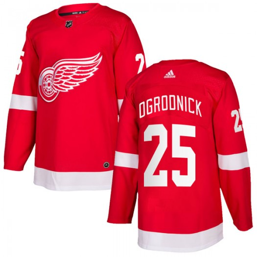 John Ogrodnick Detroit Red Wings Men's Adidas Authentic Red Home Jersey