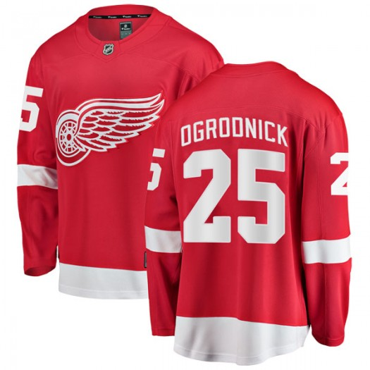 John Ogrodnick Detroit Red Wings Men's Fanatics Branded Red Breakaway Home Jersey
