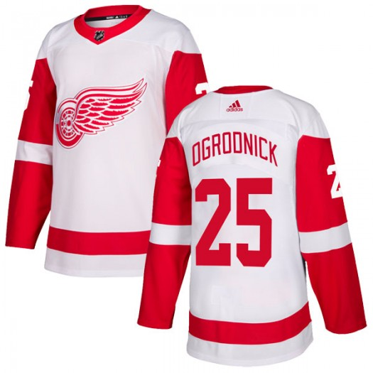 John Ogrodnick Detroit Red Wings Youth Adidas Authentic White Jersey