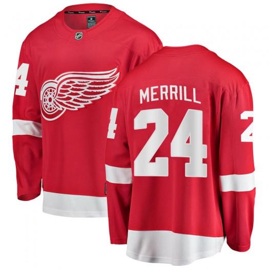 Jon Merrill Detroit Red Wings Men's Fanatics Branded Red Breakaway Home Jersey