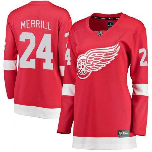 Jon Merrill Detroit Red Wings Women's Fanatics Branded Red Breakaway Home Jersey