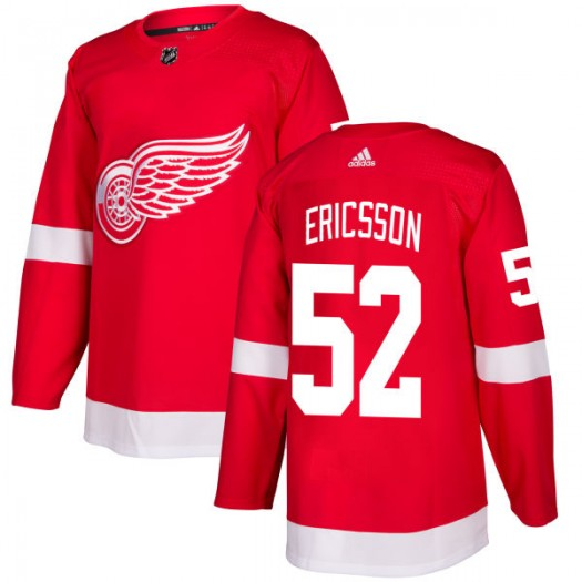 Jonathan Ericsson Detroit Red Wings Men's Adidas Authentic Red Jersey