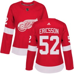 Jonathan Ericsson Detroit Red Wings Women's Adidas Authentic Red Home Jersey