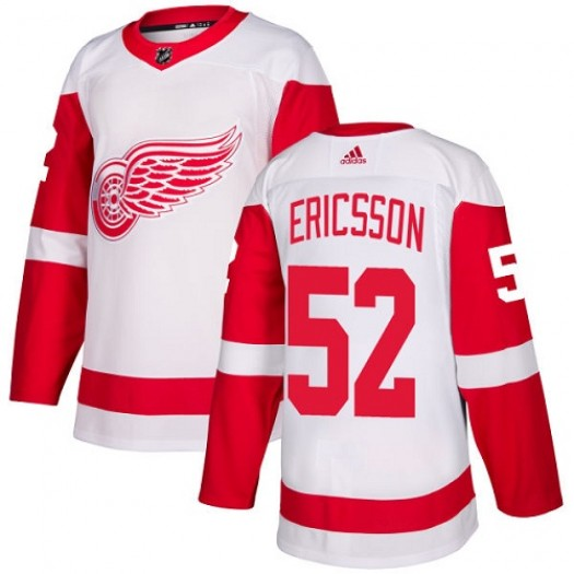 Jonathan Ericsson Detroit Red Wings Youth Adidas Authentic White Away Jersey