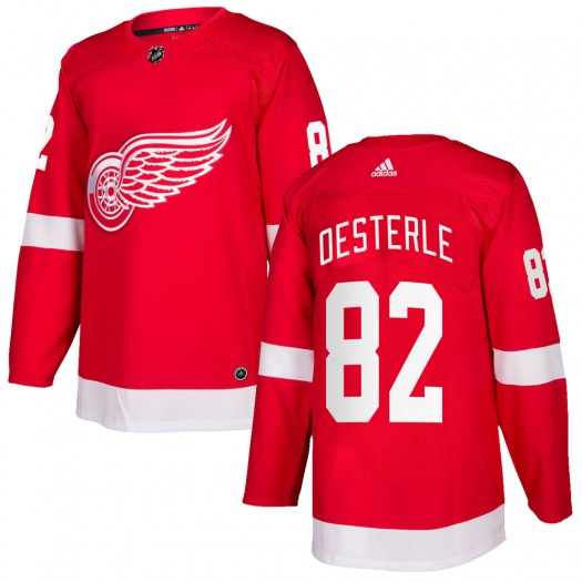 Jordan Oesterle Detroit Red Wings Men's Adidas Authentic Red Home Jersey