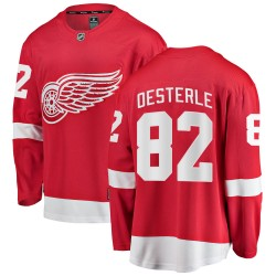 Jordan Oesterle Detroit Red Wings Youth Fanatics Branded Red Breakaway Home Jersey