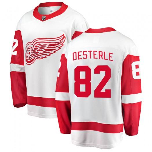 Jordan Oesterle Detroit Red Wings Youth Fanatics Branded White Breakaway Away Jersey