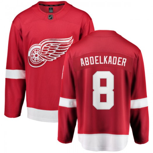 Justin Abdelkader Detroit Red Wings Men's Fanatics Branded Red Home Breakaway Jersey