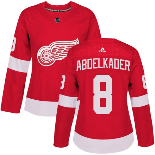 Justin Abdelkader Detroit Red Wings Women's Adidas Authentic Red Home Jersey
