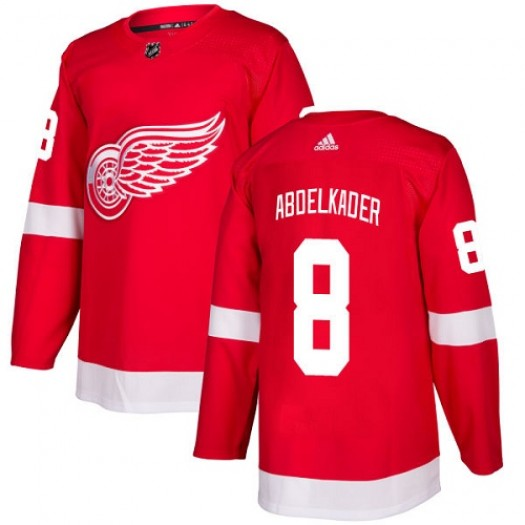 Justin Abdelkader Detroit Red Wings Youth Adidas Authentic Red Home Jersey