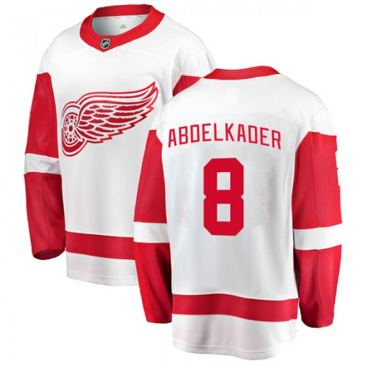 Justin Abdelkader Detroit Red Wings Youth Fanatics Branded White Breakaway Away Jersey