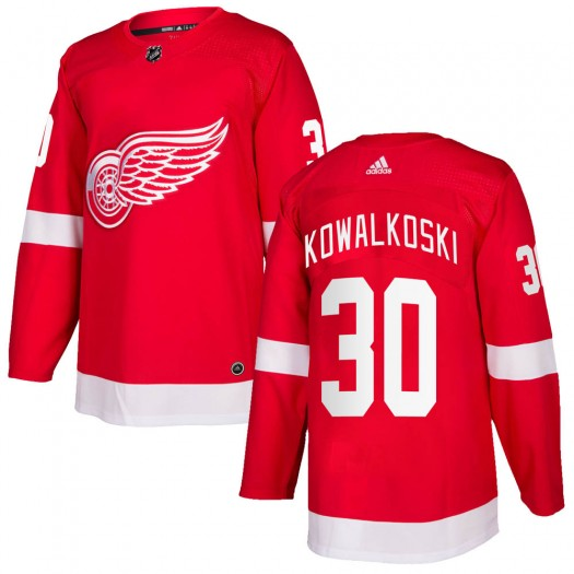 Justin Kowalkoski Detroit Red Wings Men's Adidas Authentic Red Home Jersey