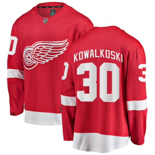 Justin Kowalkoski Detroit Red Wings Men's Fanatics Branded Red Breakaway Home Jersey