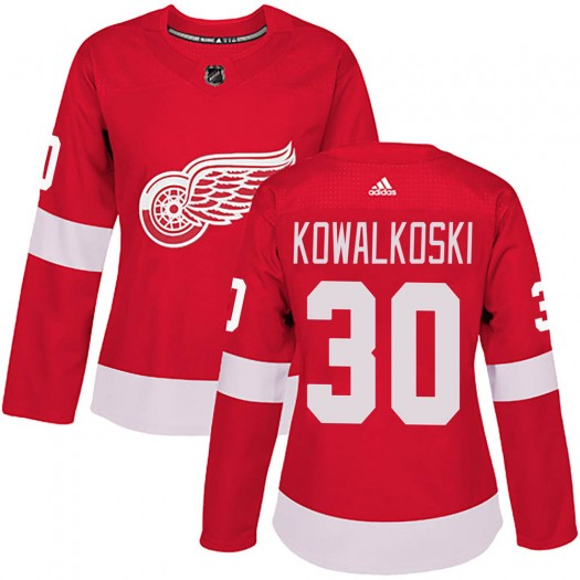 Justin Kowalkoski Detroit Red Wings Women's Adidas Authentic Red Home Jersey