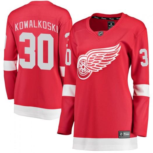 Justin Kowalkoski Detroit Red Wings Women's Fanatics Branded Red Breakaway Home Jersey