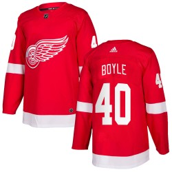 Kevin Boyle Detroit Red Wings Men's Adidas Authentic Red Home Jersey