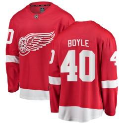 Kevin Boyle Detroit Red Wings Men's Fanatics Branded Red Breakaway Home Jersey