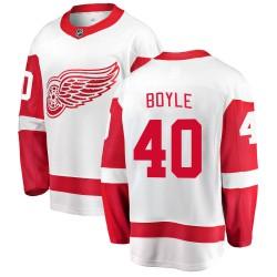 Kevin Boyle Detroit Red Wings Men's Fanatics Branded White Breakaway Away Jersey