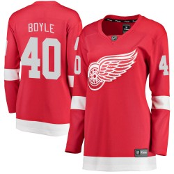 Kevin Boyle Detroit Red Wings Women's Fanatics Branded Red Breakaway Home Jersey