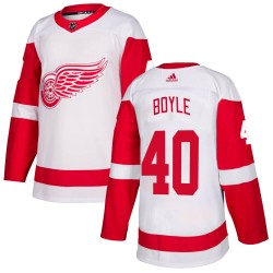 Kevin Boyle Detroit Red Wings Youth Adidas Authentic White Jersey