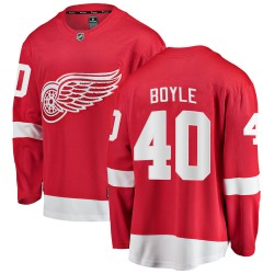 Kevin Boyle Detroit Red Wings Youth Fanatics Branded Red Breakaway Home Jersey
