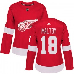 Kirk Maltby Detroit Red Wings Women's Adidas Authentic Red Home Jersey